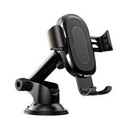 Baseus Gravity Osculum univerzális autós telefon tartó és vezeték nélküli töltő, fekete