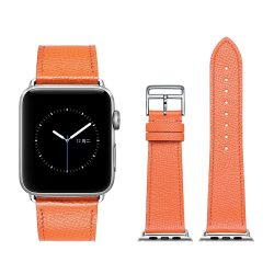 Apple Watch bőr 40mm óraszíj, narancs