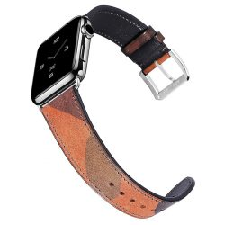 Apple Watch bőr 40mm óraszíj, barna-fekete