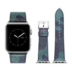 Apple Watch bőr 40mm óraszíj, military zöld