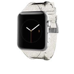 Case-Mate Apple Watch Strap Sheer Glam 42mm óraszíj, átlátszó-arany