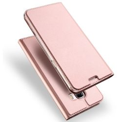 Dux Ducis Huawei Mate 10 Skin Leather oldalra nyíló bőr tok, rozé arany