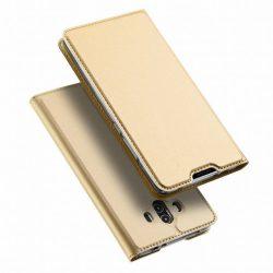Dux Ducis Huawei Mate 10 Skin Leather oldalra nyíló bőr tok, arany