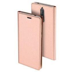 Dux Ducis Skin Leather Nokia 8 oldalra nyíló tok, rozé arany