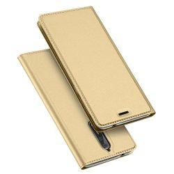 Dux Ducis Skin Leather Nokia 8 oldalra nyíló tok, arany