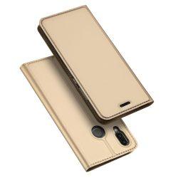 DUX DUCIS SKIN LEATHER Huawei P20 oldalra nyíló tok, arany