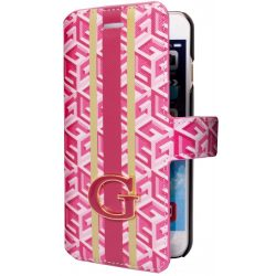Guess iPhone 6Plus/6S Plus G-Cube oldalra nyíló tok, flip tok, piros