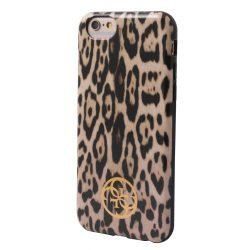 Guess iPhone 6/6S Animalier Print hátlap, tok, leopárd barna