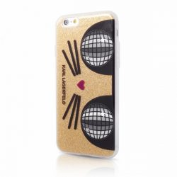 Karl Lagerfeld iPhone 6/6S Choupette K-Kocktail Glitter hátlap, tok, arany