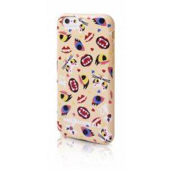 Karl Lagerfeld iPhone 6/6S Choupette Monster hátlap, tok, bézs