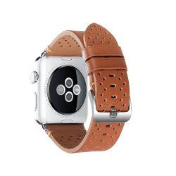 Apple Watch borjú bőr 44mm óraszíj, barna
