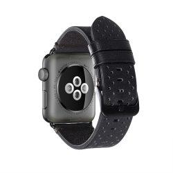 Apple Watch borjú bőr 44mm óraszíj, fekete