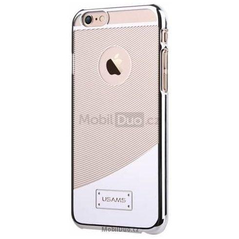Apple iPhone 6, átlátszó műanyag hátlap ,tok, USAMS E-plating, ezüst