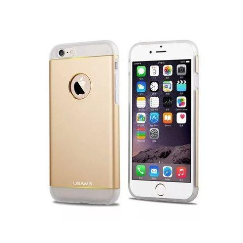 Apple iPhone 6 tok, TPU + Aluminium hátlap, USAMS Noble Series, arany