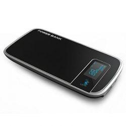 IWO P26P Li-Polimer Dual-USB, Power Bank, hordozható külső akkumulátor, digitális kijelzővel, 5000mAh, fekete