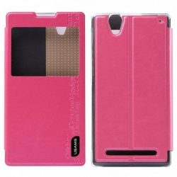 Sony Xperia Z2a bőr tok, USAMS Merry Series, rózsaszín