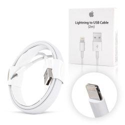 Apple gyári iPhone lightning adat és töltő kábel MD819ZM/A, 2m, fehér