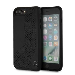 Mercedes-Benz iPhone 6 Plus/7 Plus/8 Plus NEW BOW II Genuine leather eredeti bőr hátlap, tok, fekete