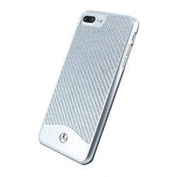 Mercedes Benz iPhone 7 WAVE V Carbon Fiber & Brushed Aluminium Hard hátlap, tok, ezüst