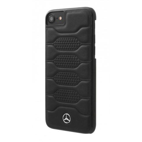 Mercedes-Benz iPhone 7 Plus Pattern I Leather Hard hátlap, tok, fekete