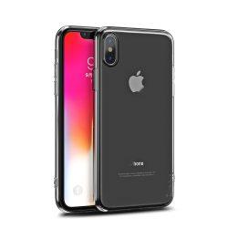 iPhone X/Xs iPaky  Effort TPU átlátszó tok + 9H keménységű üvegfólia