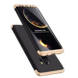 Full Body Case 360 Samsung Galaxy S9 Plus, elő-hátlap tok, fekete-arany