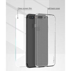 iPhone 7/8 iPaky  Effort TPU átlátszó tok + 9H keménységű üvegfólia