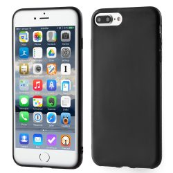 iPhone 7/8 Plus szilikon tok, fekete