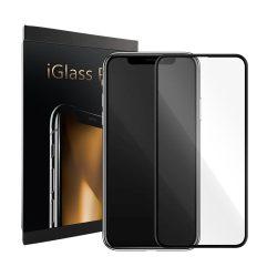 iGlass Pro kijelzővédő üvegfólia – iPhone X, fekete