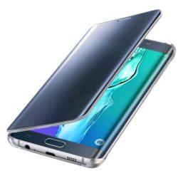 Samsung Galaxy S6 Edge Plus Clear View oldalra nyíló tok, flip tok, kék