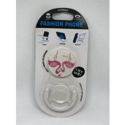 Pop Socket autós telefon tartóval, flamingó love