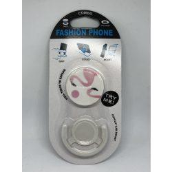 Pop Socket autós telefon tartóval, pink flamingó