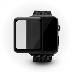 iGlass 3D Round kijelzővédő üvegfólia – Apple Watch, fekete