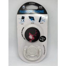 Pop Socket autós telefon tartóval, flamingó fekete