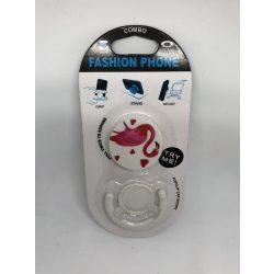 Pop Socket autós telefon tartóval, flamingó heart