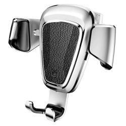 Baseus Gravity Car Mount Air Vent univerzális autós telefon tartó, 4-6 colos eszközökre, sötét ezüst