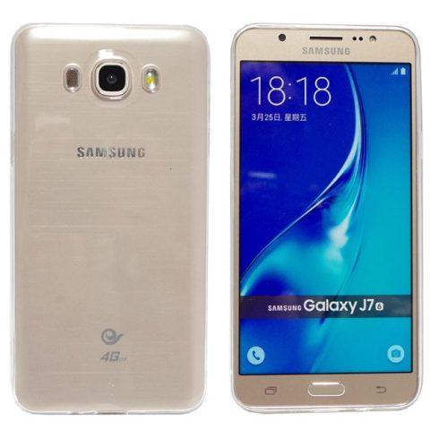Samsung Galaxy J7 (2016) Ultra Slim 0,3mm szilikon hátlap, tok, átlátszó