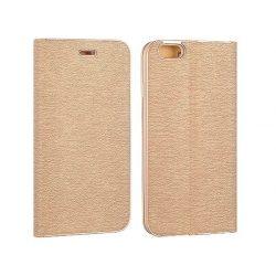 Vennus Samsung Galaxy S8 Plus oldalra nyíló tok, flip tok, kerettel, arany