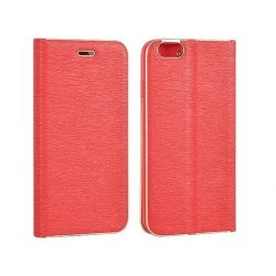 Vennus Samsung Galaxy S8 Plus oldalra nyíló tok, flip tok, kerettel, piros