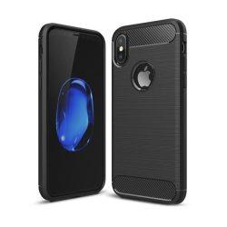 iPaky iPhone X/Xs Slim Carbon Flexible ujjlenyomatmentes hátlap, tok, fekete