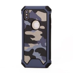 Rugged Super Durable iPhone X hátlap, tok, kék