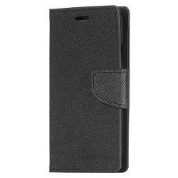 Mercury Goospery iPhone X/Xs Fancy Diary oldalra nyíló tok, flip tok, fekete