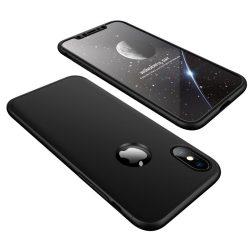 Full Body Case 360 iPhone X/Xs, elő-hátlap tok, fekete