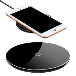 Baseus Simple Stylish Wireless Charger, univerzális asztali vezeték nélküli töltő, 2A, 10W, fekete