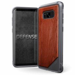 X-Doria Defense Lux Samsung Galaxy S8 Plus hátlap, tok, acél ezüst-barna